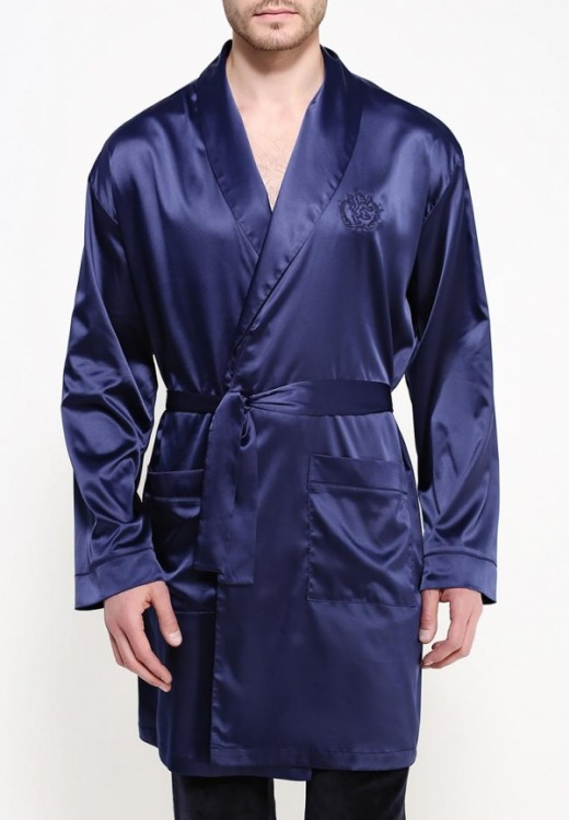 67c7ffc1bc18 Мужской шелковый халат на запах N794027 - купить по цене 3 980 руб ...