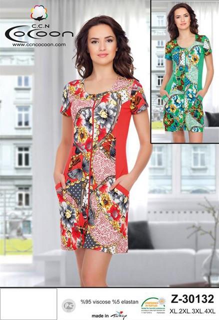 76524963cb72c Женский летний халат на молнии (Cocoon R30132) - купить по цене 2 ...