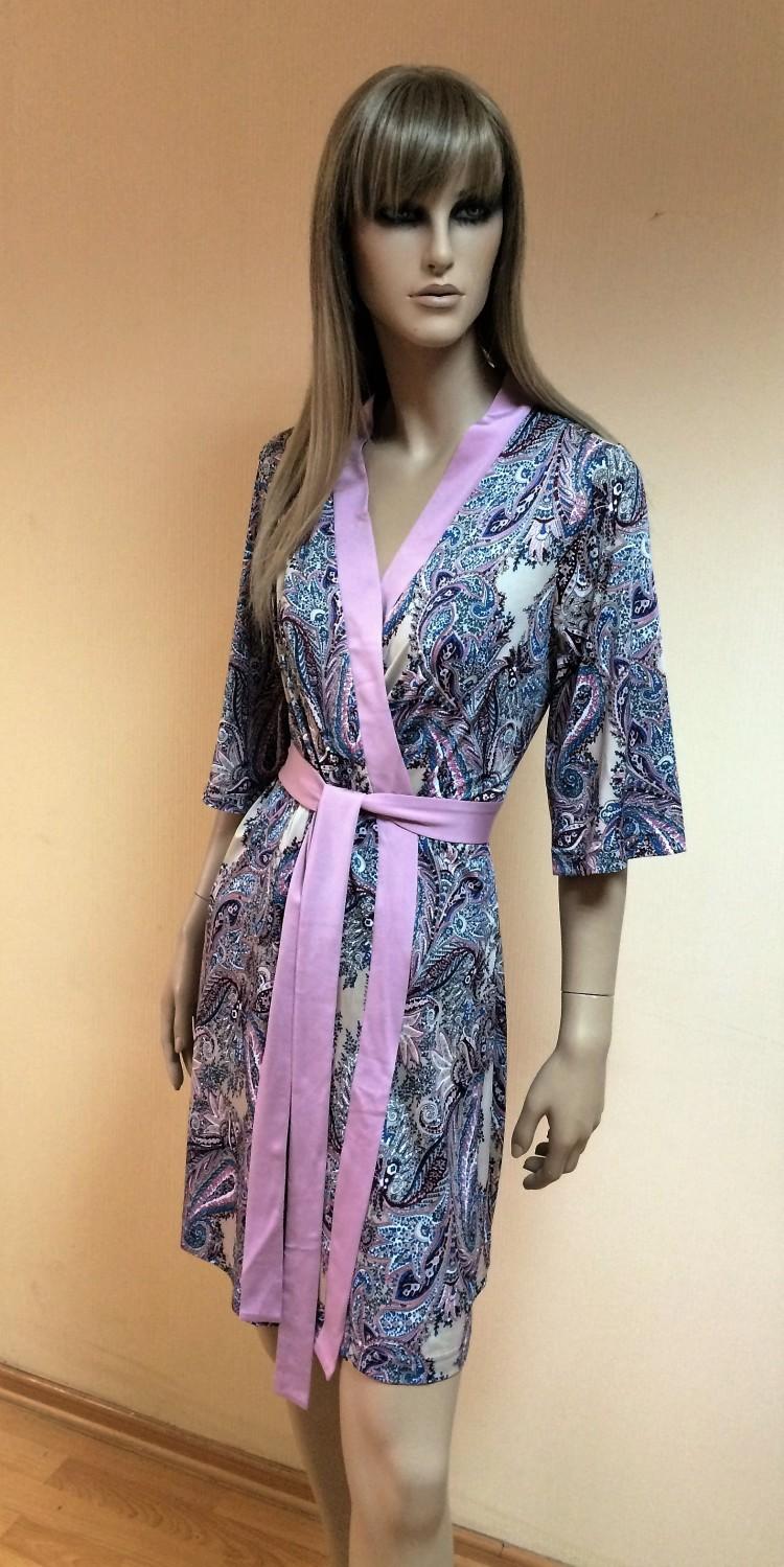 48837d5110c3 Женский халат на запах (Polents 8580) - купить по цене 2 680 руб. в  интернет магазине в Москве