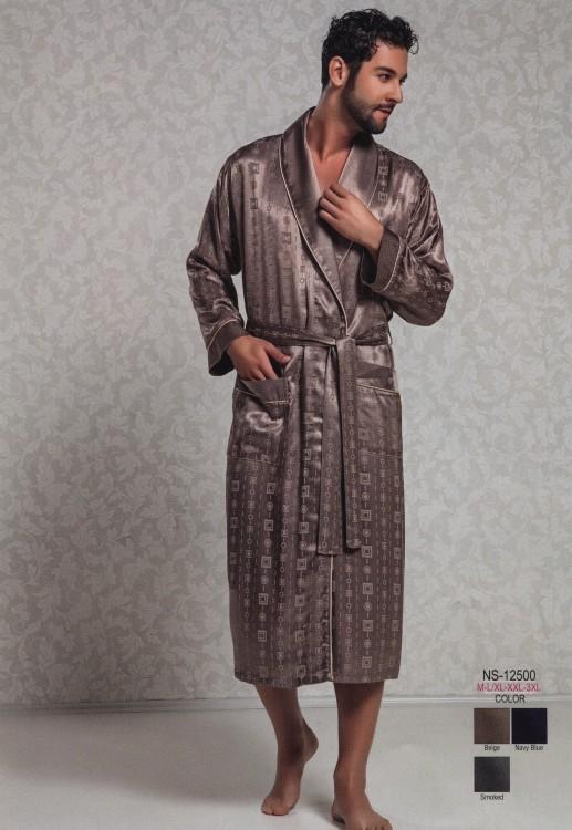 a36adcde3fbe Мужской шелковый халат (Nusa R12500) - купить по цене 4 980 руб. в ...