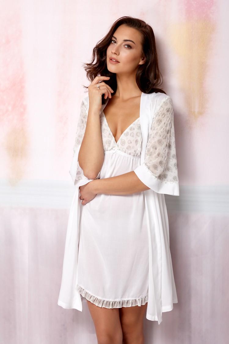 0028873b92ab Женский укороченный халат на запах (R617027) - купить по цене 3 680 руб. в  интернет магазине в Москве