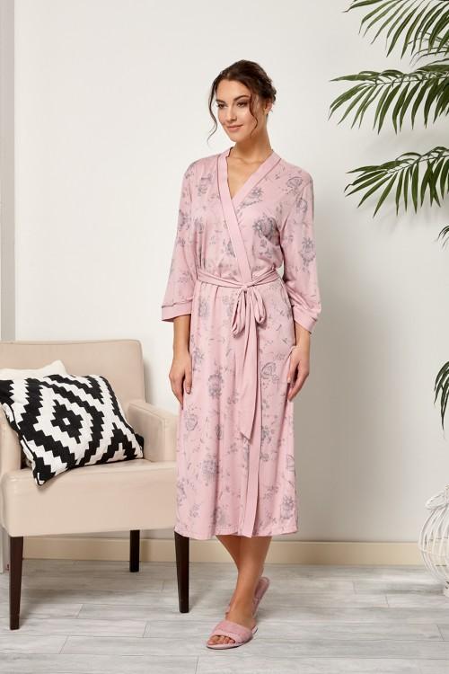 201f67bb554 Женский халат на запах (R007027) - купить по цене 2 680 руб. в ...